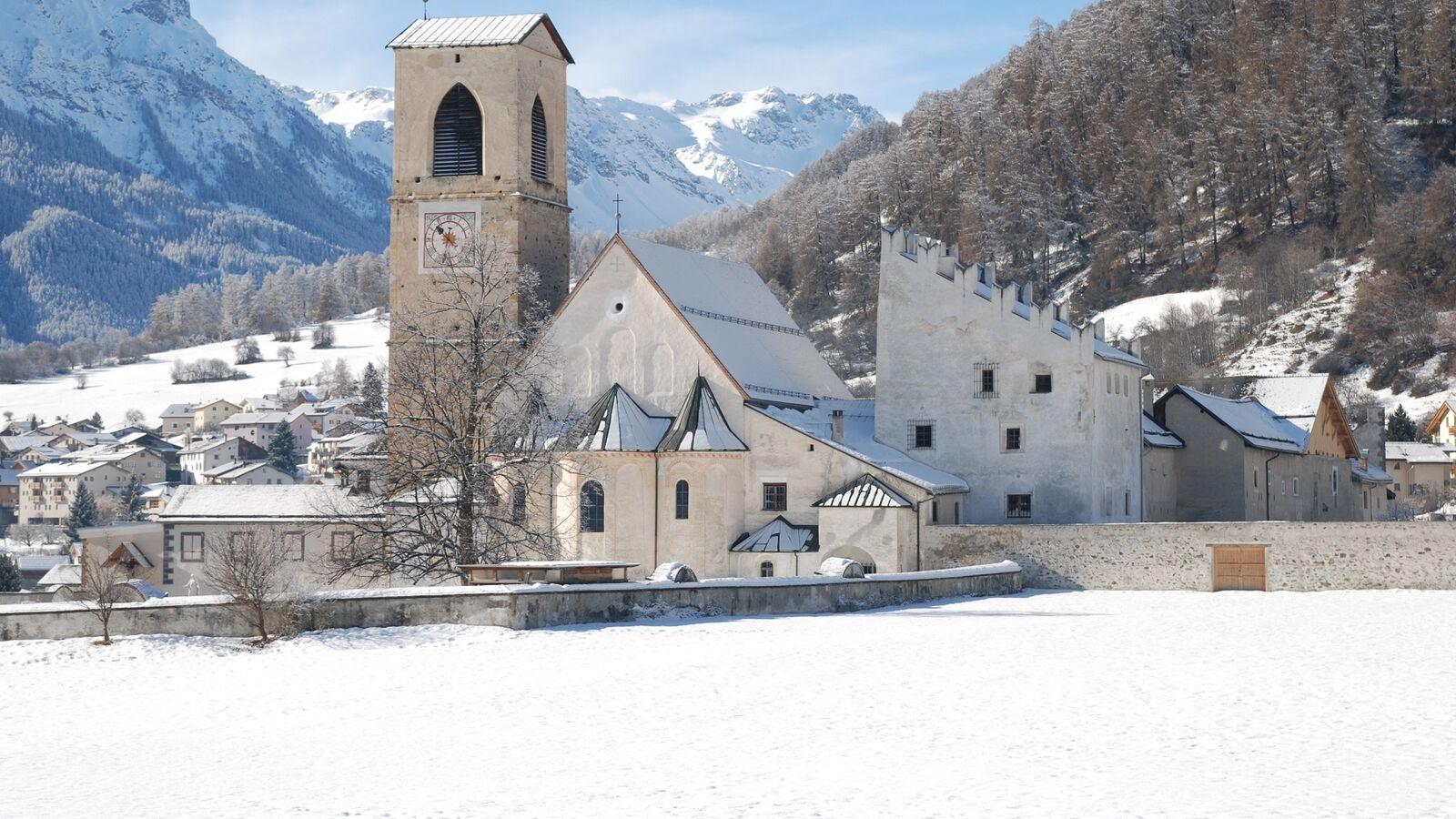 Benedictine Convent of St John in Müstair Winter