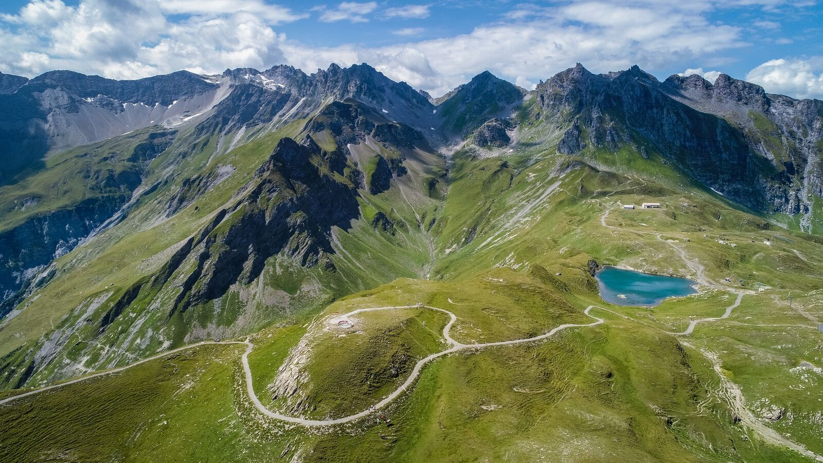 The Pizol Panorama High Trail offers a gigantic panorama of the Alps with a view of the Tectonic Arena Sardona UNESCO World Heritage Site.