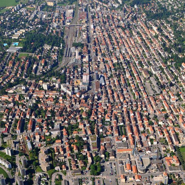 La Chaux-de-Fonds from the sky