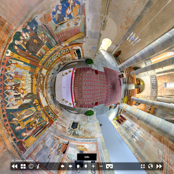 Virtual Tour of the church of the monastery of St. John in Müstair